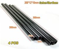 300m*12mm*10mm Carbon Fiber Tube Boom 4pcs for DIY drones Multirotor  qudcopter/Hexacopter