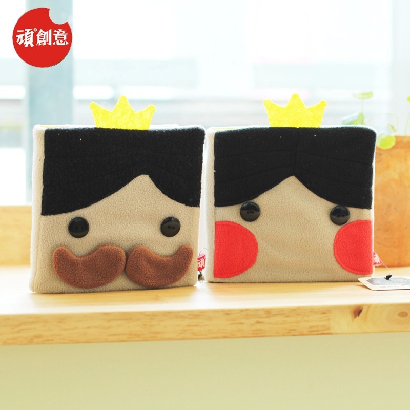 2015 Cute Cartoon King queen Velveteen notebook creative trends Notebook Diary Planner Notepad kids Gift DIY Stationery - Fashion Shop 7 store