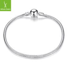Fashion Silver Snake Chain European Charm Bead Fit Original Pandora Bracelet Bangle Jewelry For Women(China (Mainland))