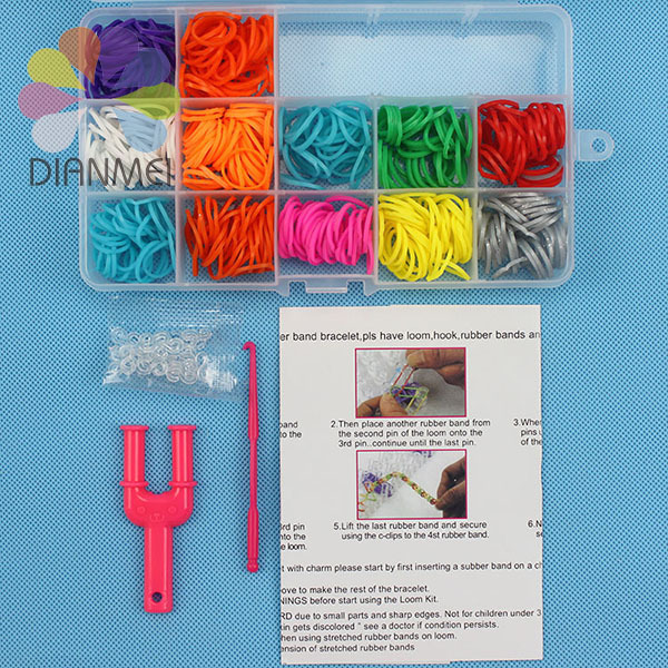 Hot Sale 1pcs/lot Colorful Rubber Loom Bands DIY Bracelet Making Kit For Kids Gifts ( 600pcs Rubber Bands ) Gum For Bracelets(China (Mainland))