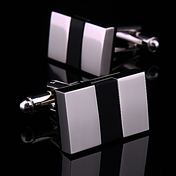 NYW novelty Foreign trade of fine black Onyx cufflinks cuff nails male French cuffs shirts buttoned coats buttoned up woman wild(China (Mainland))