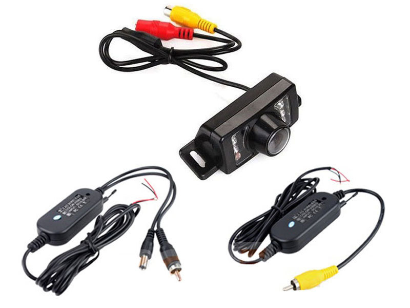 2.4G Wireless Car Reverse Rear View System Night Vision Backup Camera For Car parking Free Shipping(China (Mainland))