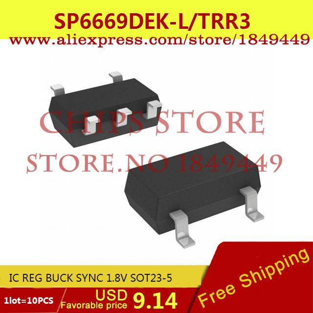 Free Shipping Electronic Voltage Regulator SP6669DEK-L/TRR3 IC REG BUCK SYNC 1.8V SOT23-5 SP6669DEK-L 6669 SP6669 10pcs