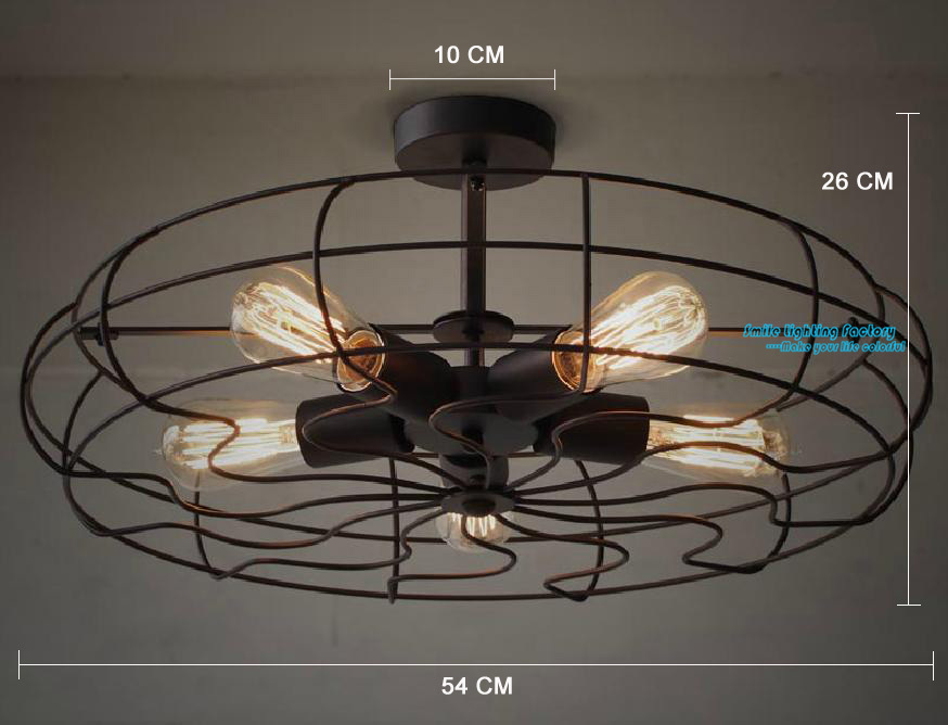 Edison Bulb Ceiling Lamp Classical Nostalgic Steam Industrial Electronic Fan Ceiling Light Vintage Lamp 5 lights(China (Mainland))