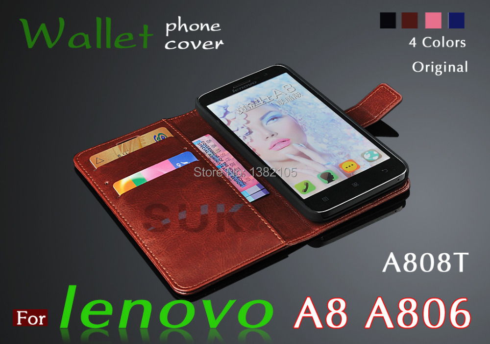 phone cover Lenovo A8 leather case Flip slim shell lenovo 8 A808t A806 cell - Shenzhen SUK Trading Co., Ltd store