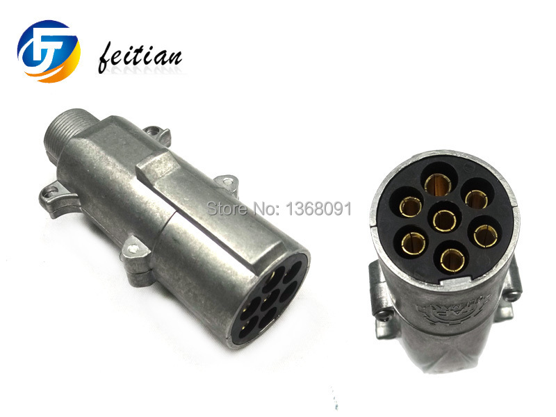 7-Pin round 24V N type towbar wiring connectors Trailer Plug for trailers and trucks(China (Mainland))