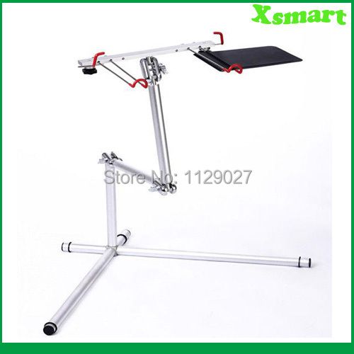 360 Degree Rotating Laptop Stand for Bed Laptop Floor Stand Folding Aluminum Alloy Support Keyboard Desk Laptop Bed Table Sofa(China (Mainland))