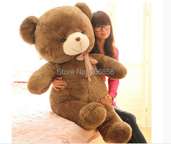 New soft Doll SUPER SIZE Bear stuffed TOY 90CM size plush toy hot sale for gift 1pc(China (Mainland))