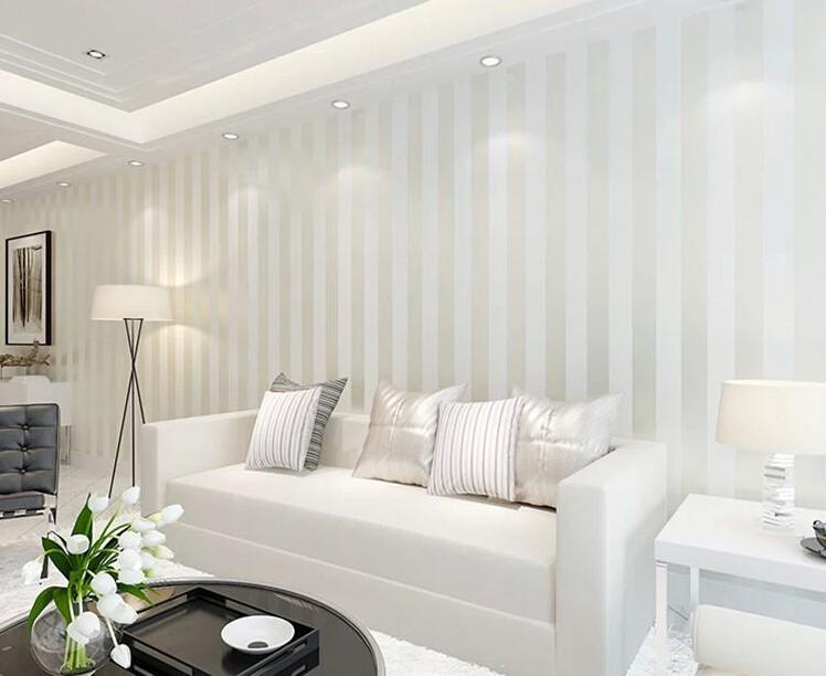 10M Roll Modern Simple Style 3D Stripe Wallpaper Bright ...