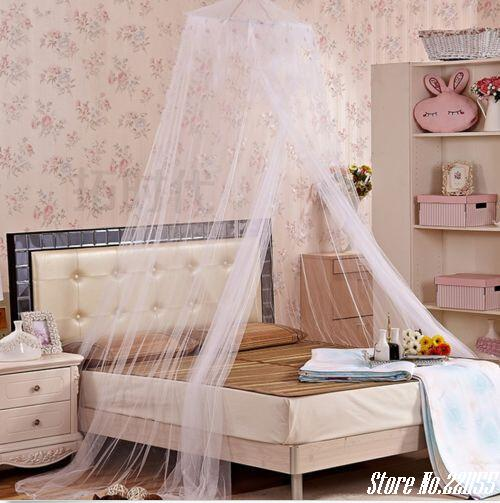 New House Bedding Decor 1pcs Elegant Round Lace Insect Bed Canopy Netting curtains Dome Mosquito Net free shipping(China (Mainland))