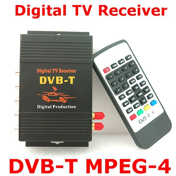 Free Shipping Super Deal Car Auto DVB-T MPEG4 One Tuner HD Mobile Digital TV Receiver Box Fit for Europe and Russia Car Dvd GPS(China (Mainland))