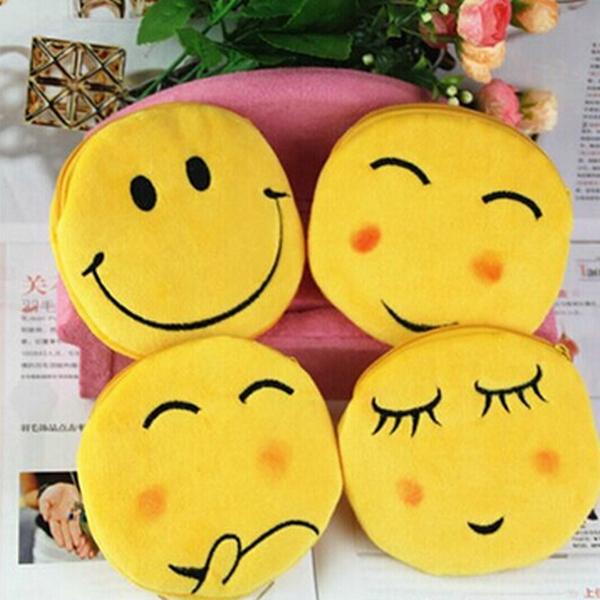 Новинка молния Emoji малыш фавор Kawaii смазливая девочки мультфильм мешок мини изменение плюшевые улыбка портмоне мешка 1 шт./лот