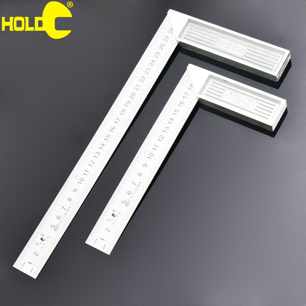 300mm long woodworking tools aluminum base type L stainless steel 90 degree square ruler<br><br>Aliexpress