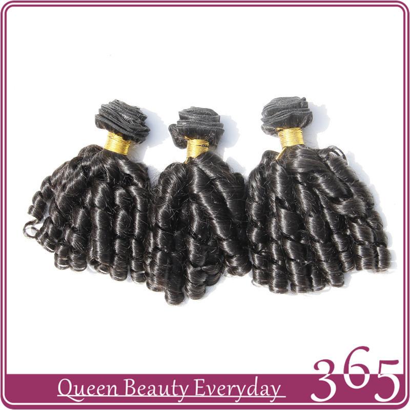 Brazilian virgin hair Funmi hair,human hair extension Spring curl weave 3 Pcs/lot natural black unprocessed virgin human hair(China (Mainland))