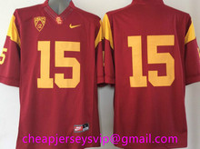 Cheap Men's USC Trojans Reggie Bush Robert Woods marcus allen Ronnie Lott O.J Simpson Matt Barkley Clay Matthews Embroidery(China (Mainland))