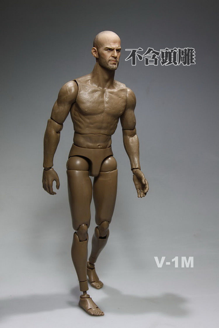 V-1M Model 1/6 Scale Nude Muscular Body V1-M Male Action Figure Doll Toys Fit HT Hot Toys Head Sculpt Collectible Toys In Stock(China (Mainland))