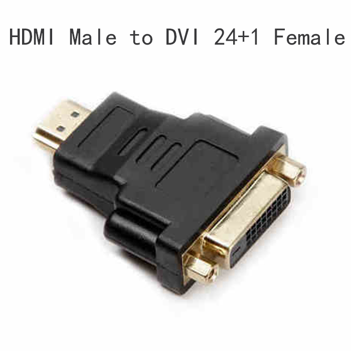 5Pcs 24+1 DVI female TO HDMI Adapter HDMI male to DVI famale adapter Converter/convertor VGA to DVI adapter(China (Mainland))