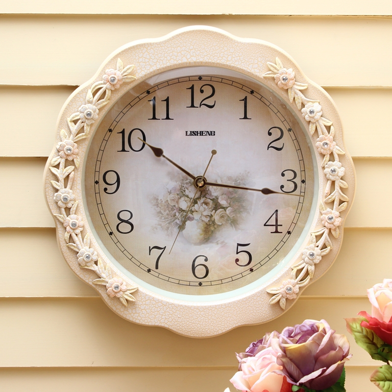 Lai Sheng mute clock modern minimalist living room wall clock hanging table of European creative personality quartz watch No.(China (Mainland))