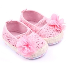 Infant Kid Anti-Slip Slip-On Knit Walking Shoes Toddler Crocheted Baby Shoes 0-12 M(China (Mainland))