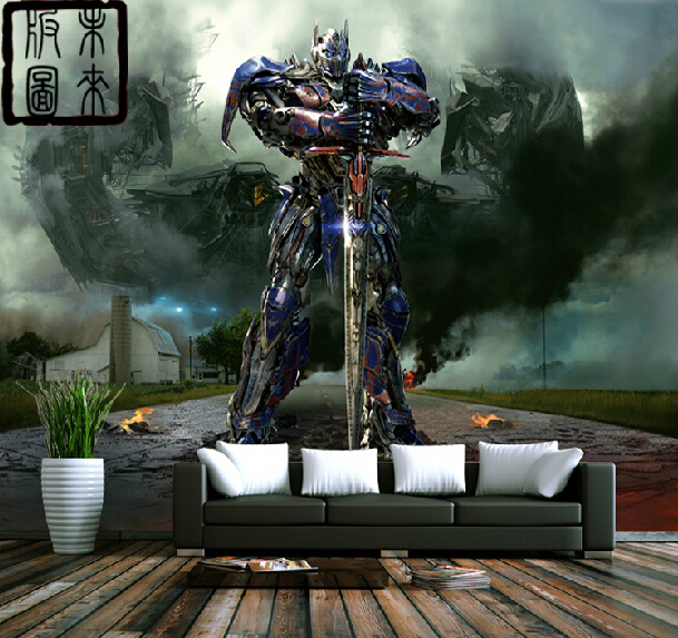 online buy wholesale transformers wall murals from china 3d bumblebee wall mural transformers photo wallpaper boys