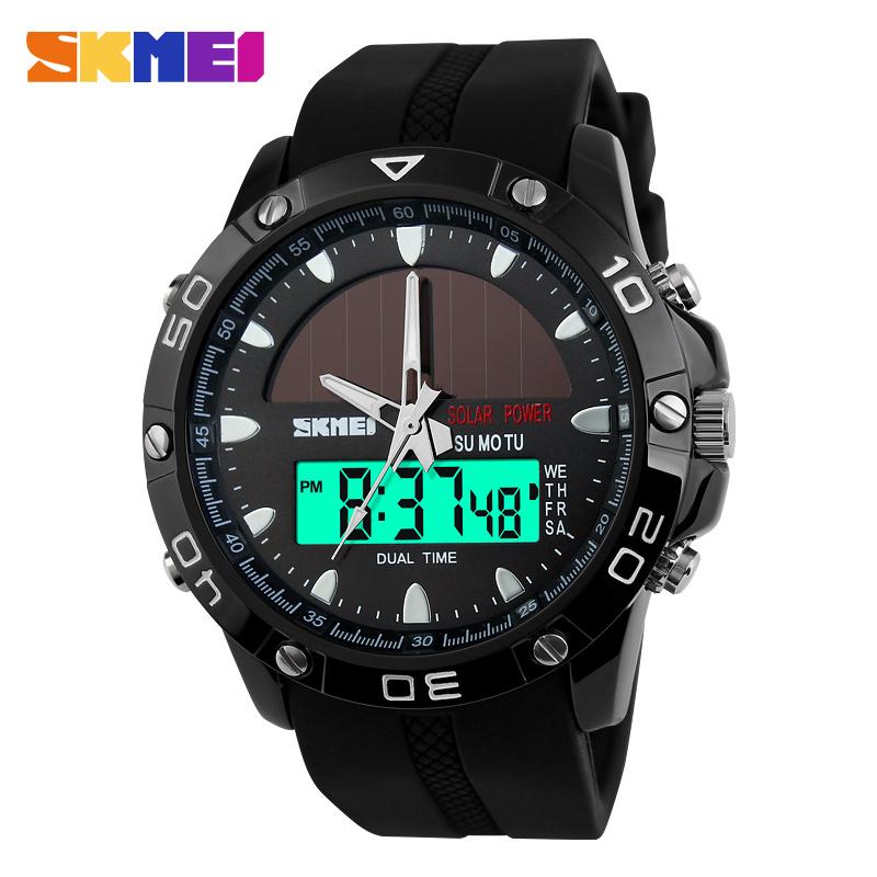 SKMEI Brand Solar Energy  Mens Quartz Watch Men Sports Watches Relogio Masculino Digital Multifunctional Outdoor Wristwatches<br><br>Aliexpress