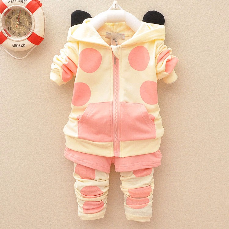 Baby Girl Clothes Set Autumn Cartoon Cow Clothing Infant Girls Long Sleeve Sport Casual Baby Girl Sets Cotton Child Suits
