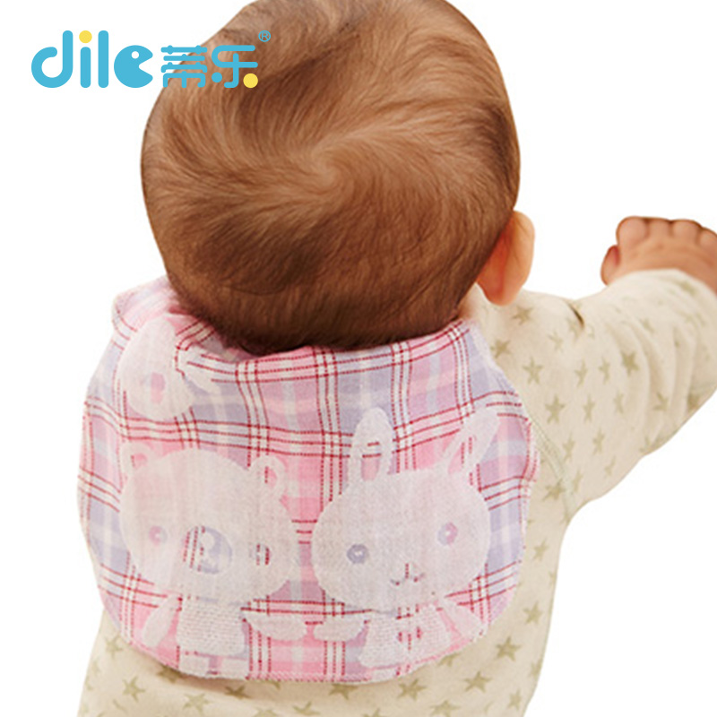 Dile baby solid color sweatbands breathable animal kid suit cotton child bibs 0-3years animal baby Scapegoat towel(China (Mainland))