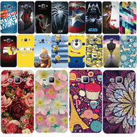 Fashion PC Phone Case With Flower Cartoon Printed Plastic Cover For Samsung Galaxy Advance G350e SM-G350E Star 2 Plus Back Shell