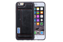 Genuine Leather Wallet Mobile Phone Case For Apple iPhone 6 6S 4.7 inch Wallet Cover Cases With Card Slot