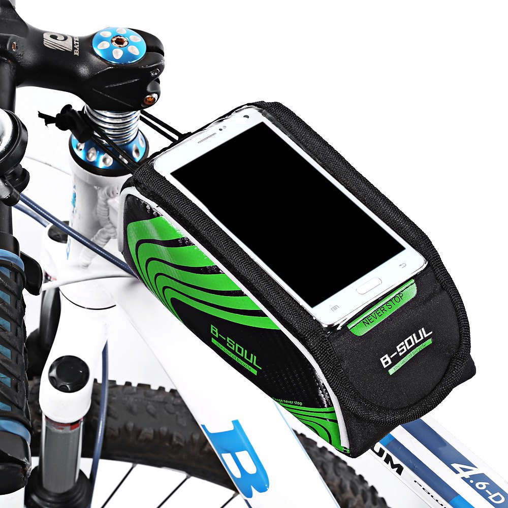 "New Brand Touch Screen Cycling Front Frame Bag 5.5"" Cell Phone Waterproof PVC Bike Bicycle Bag Pouch Handlebar Phone Case(China (Mainland))"