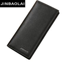 Buy JINBAOLAI Brand Men Wallet Genuine Leather Long clutch wallets men Cowhide Bifold Purse Slim Fashion Male Wallets Carteira for $9.42 in AliExpress store