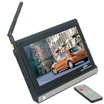 7 Inch Digital Color TFT LCD Monitor 2.4GHz 4Channels Security CCTV Wireless AV Receiver Remote Control