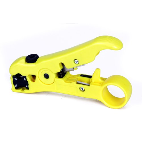 FSLH-Coaxial Cable Stripper Coax Stripping Tool for RG59/6/7/11 / Reversible Cassette, Cable Cutter Function(China (Mainland))