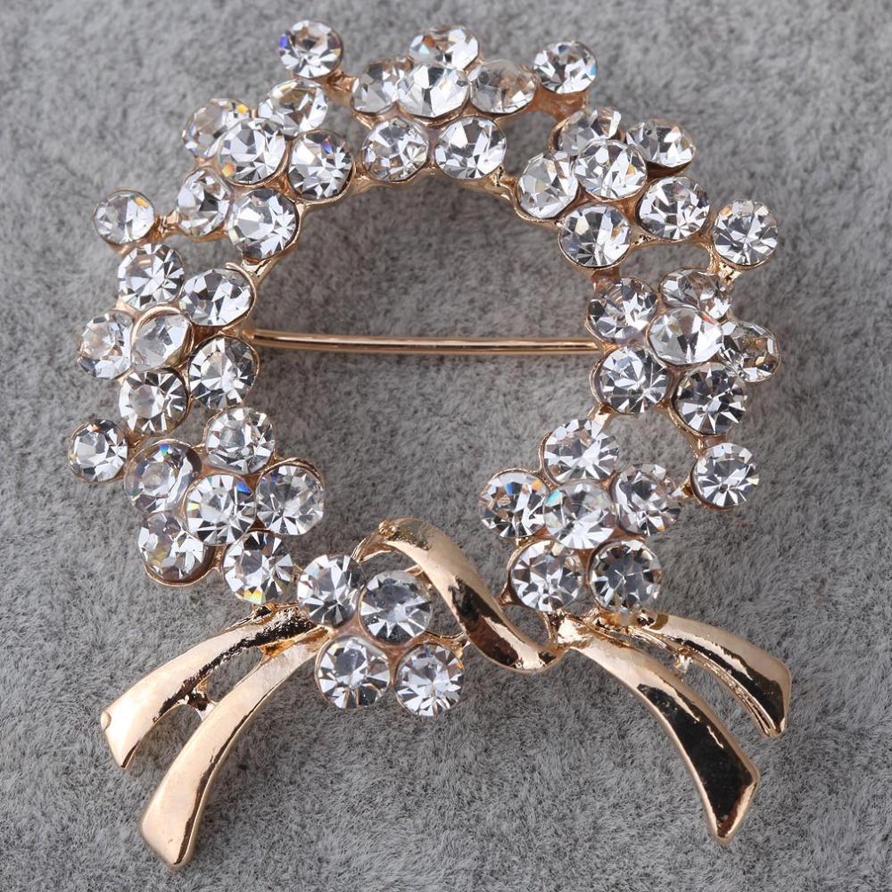 Гаджет  Fashion Jewelry 9k Yellow Gold Filled Full Crystal Inlay Geometric Shape Brooch None Ювелирные изделия и часы