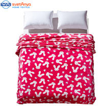 White Rabbit cartoon coral flannel Fleece blanket twin full queen king size red summer comforter/Throw winter bedsheet plaid(China (Mainland))