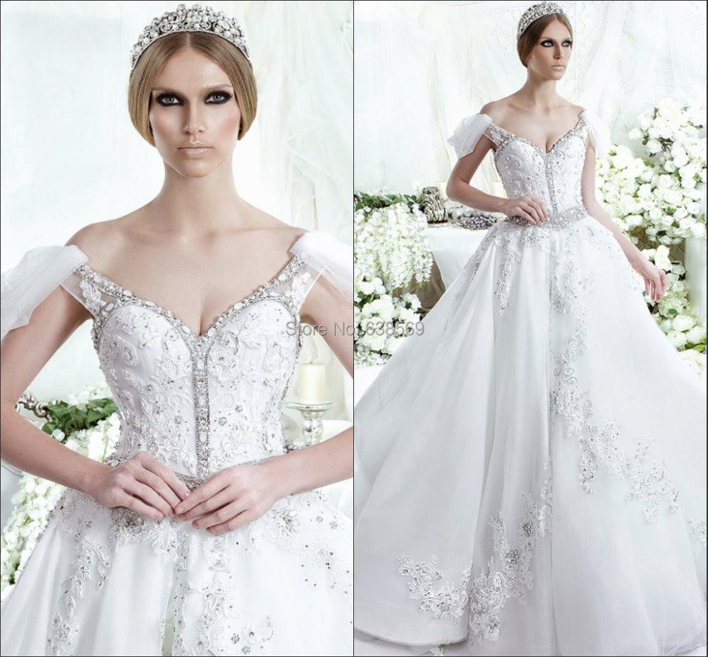 Buy 2014 grace white tulle applique off for Vintage off the shoulder wedding dresses