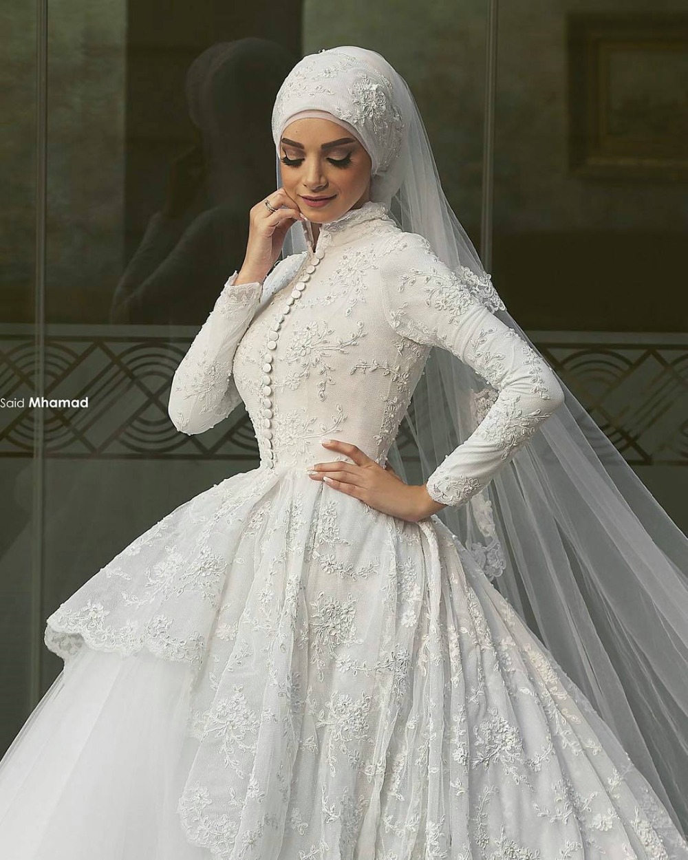 Hijab Wedding Dress Image