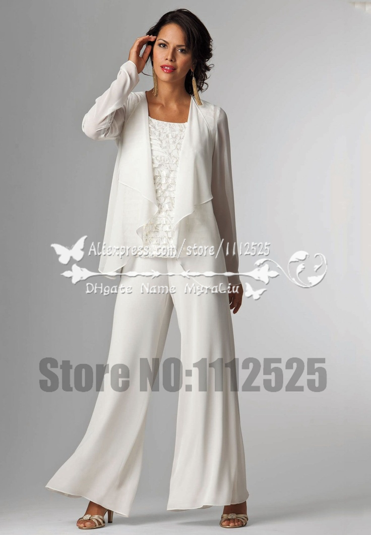 Amp1065 mother of the bride dresses pants suit with jacket for Dress pant outfits for wedding
