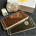 Luxury Mirror surface Electroplating Soft Clear TPU Case for Apple iphone 5 5S SE 6 6S