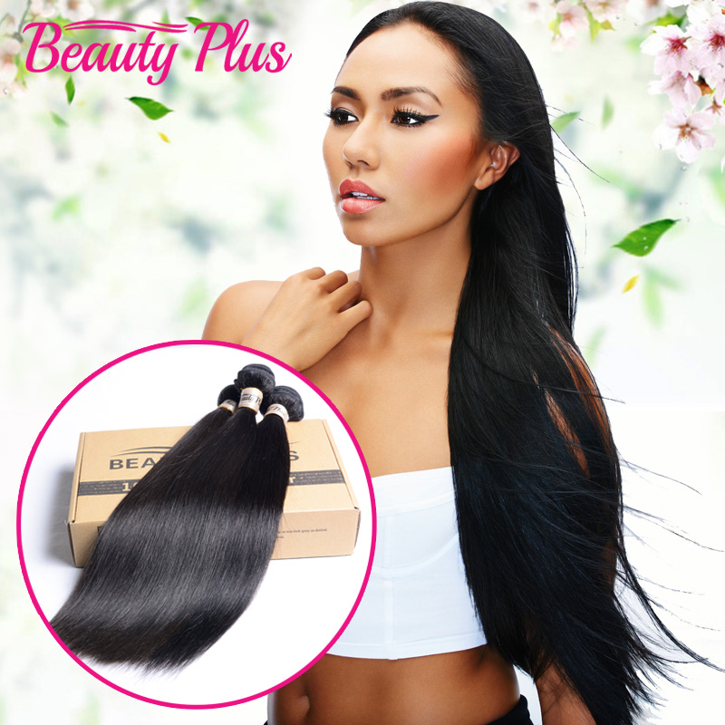 7A Indian Virgin Hair Straight 4 Pcs/Lot Raw Indian Hair Bundles 100% Human Hair Weaving Virgin Indian Hair Extensions Straight