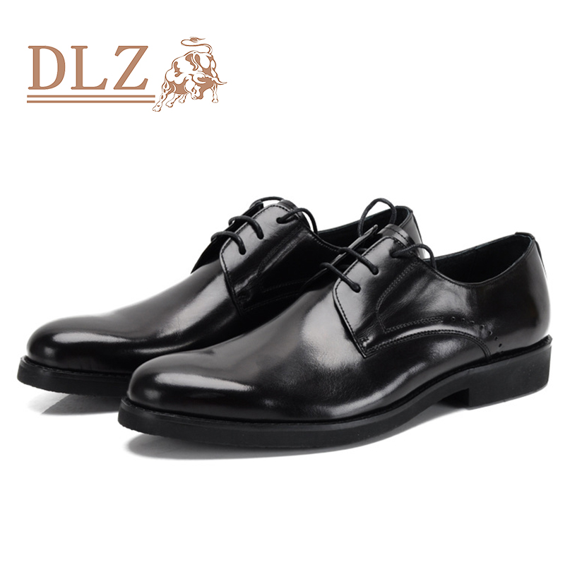 black brown classical shoes genuine leather shoes flat