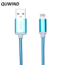 QUWIND 1.5M 5FT High Quality Flat Data Charging Cable for iPhone 5 6 6S 6Plus 7 iPad mini iPad Air(China (Mainland))