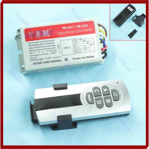 Гаджет  Newest 4 Ways Light Lamp ON/OFF Digital Remote Control Switch Controller Free Shipping None Свет и освещение