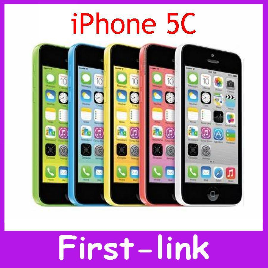 iPhone 5C Factory Unlocked Original 8MP IOS 8 Dual Core 4.0 inches GPS WIFI Multi Language Mobile Phone Free Phone Cases Gift(China (Mainland))
