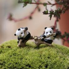 Mini Resin Panda Moss Micro World Bonsai Garden Small Ornament Landscape Home & Garden Decoration DIY Accessories