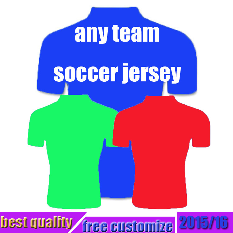 NEW any Soccer Jersey 2015 HOME away white 3rd soccer jersey Uniform Football Shirt 2016 15 16(China (Mainland))