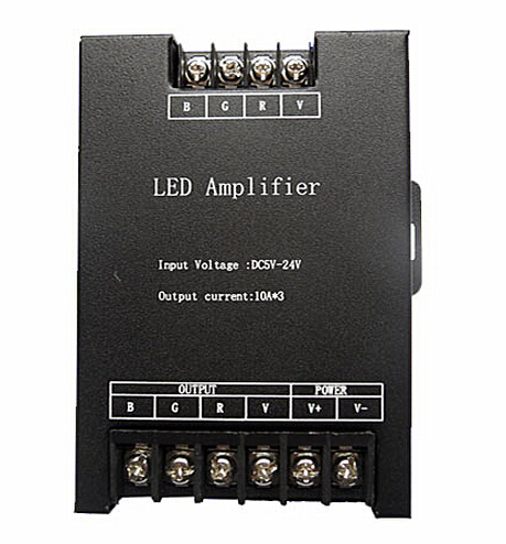 Led RGB Amplifier Controller input 5V/12V/24V 30A Signal Repeater 360W for 3528 /5050 RGB Led strip(China (Mainland))