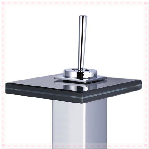U Type Chrome Electric Water Heater Mixing Valve Single: Single Handle Bathroom Countertop Sink Waterfall Lavatory
