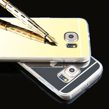 New Luxury View Clear Cover For Samsung Galaxy S6 Edge /S6 Case Mirror Soft TPU Phone Cases For Samsung Galaxy s 6 Accessories