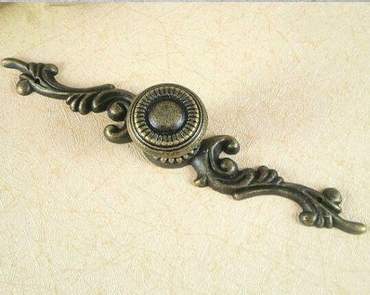 Antique Distress kitchen cabinet handle knob bronze dresser cupboard knobs pull antique brass drawer Furniture pulls handles(China (Mainland))